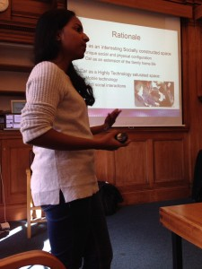 Chandrika Cycil presenting her data