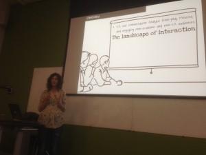 Liz Stokoe presenting CARM